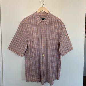 Eddie Bauer Men's Button Up Checkered Shirt